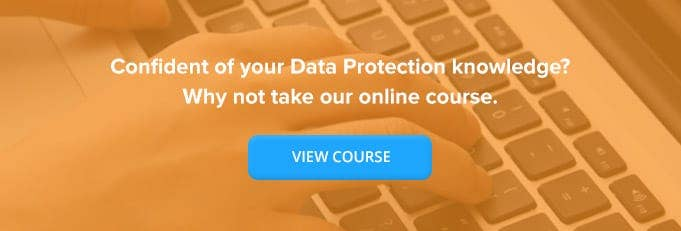 Data Protection Online Training Course Banner from High Speed Training