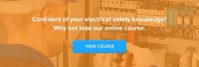 Electrical Safety Online Training Course Banner from High Speed Training