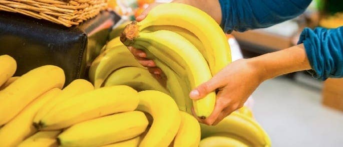 where to store bananas in a supermarket