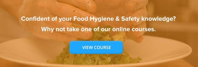 Level 2 Food Hygiene & Safety Certificate Banner from High Speed Training