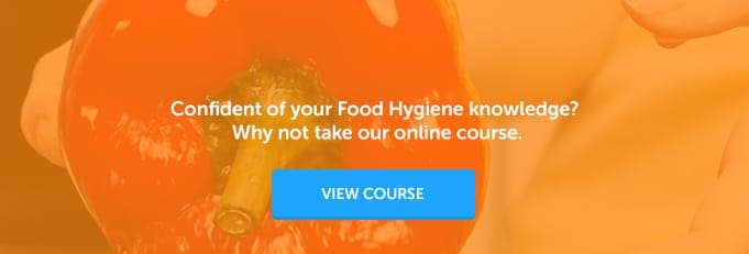 banner for a food hygiene training course from High Speed Training