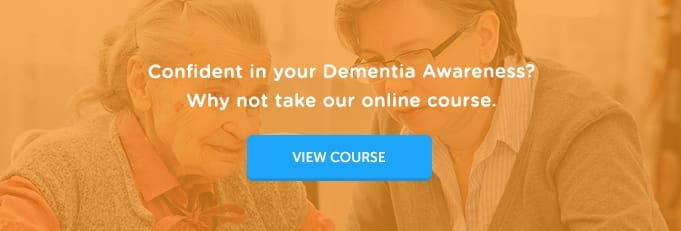Dementia Awareness Online Training Course Banner from High Speed Training