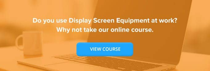 Display Screen Equipment (DSE) Training Online Training Course Banner from High Speed Training