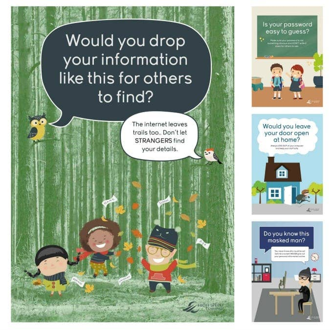 internet safety primary school poster for sharing information