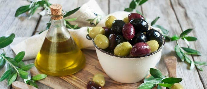 A selection of olives