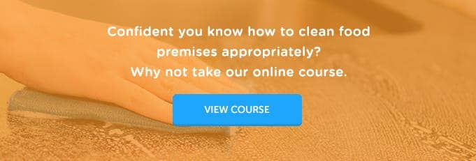 Level 2 Cleaning in Food Premises Training Course Online Training Course Banner from High Speed Training
