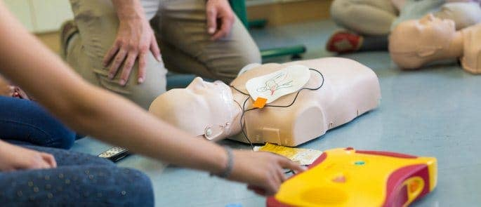 Completing a paediatric first aid course