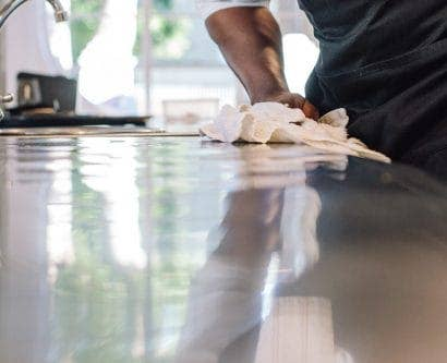 chef cleaning