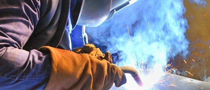 Welding using safe personal protective equipment
