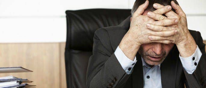 Employee feeling stressed at work