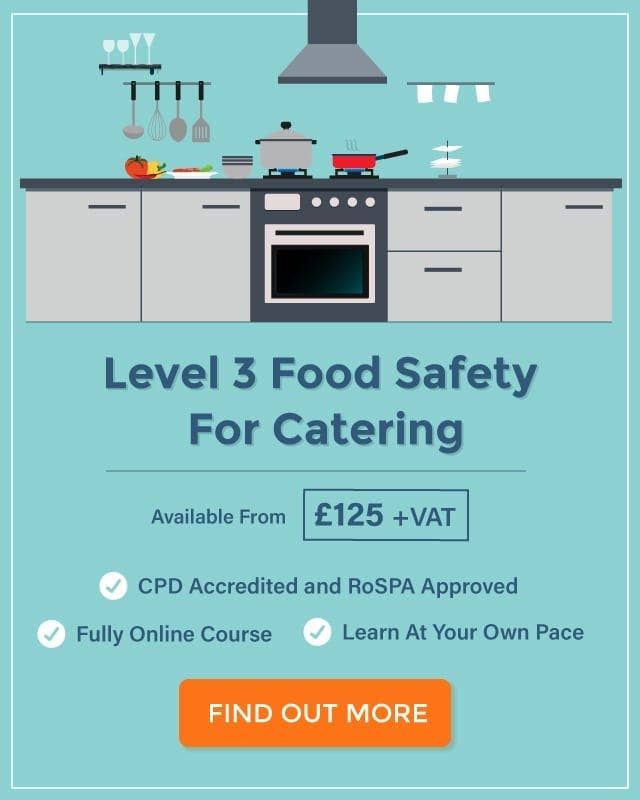 level 3 food hygiene for catering course